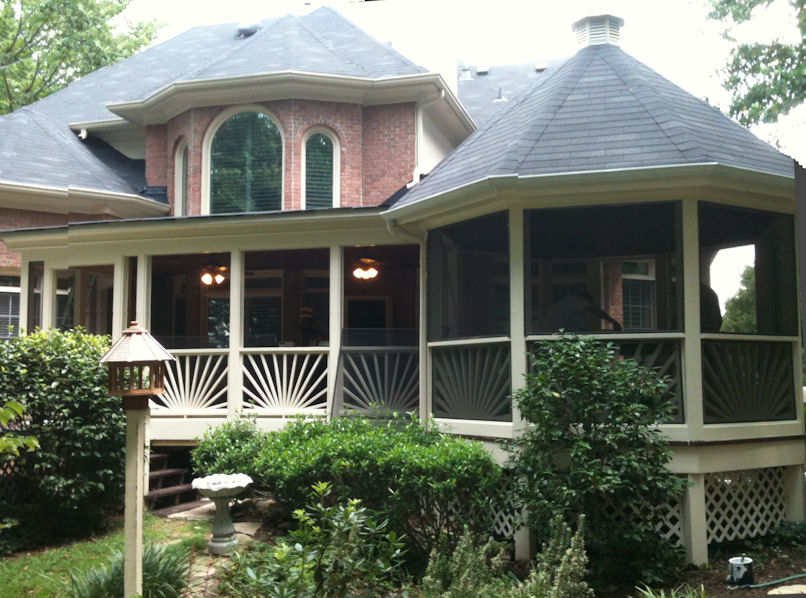 Factory direct remodeling of atlanta photo gallery for Screened in front porch