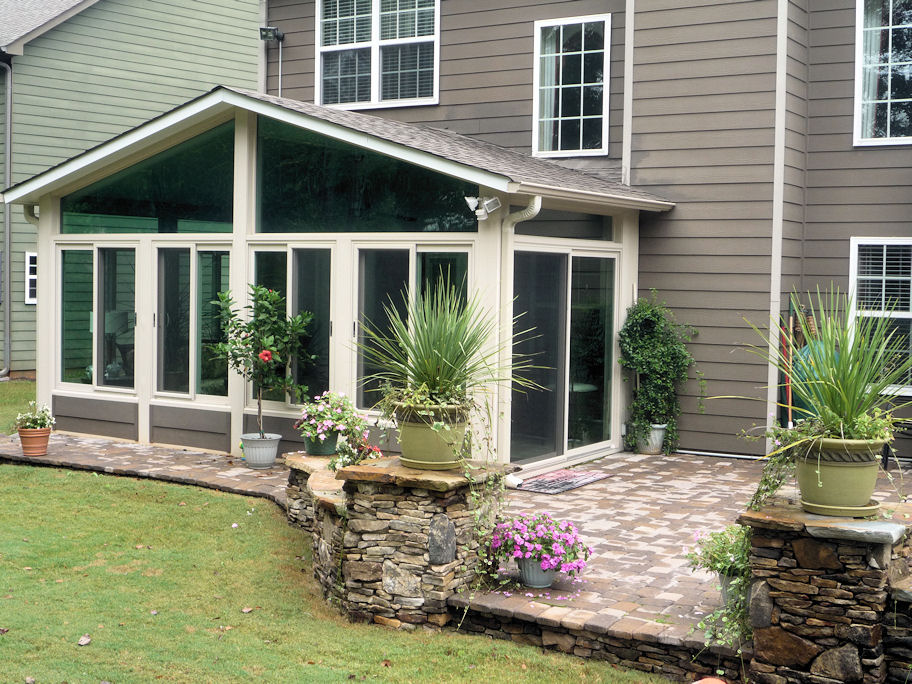Factory direct remodeling of atlanta photo gallery for Porch sunroom