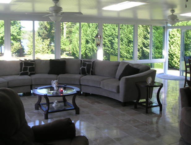 Double Under Deck Flanked Sunroom